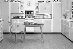 kitchen with table + chair | 1955 | #vintage #1950s #home #kitchen