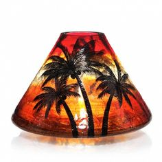 """Yankee Candle Company Candle Accessories Jar Shades Sunset Crackle (Online & Catalog Exclusive) Jar Candle Shade 4"""" X 6"""" $18.99"""