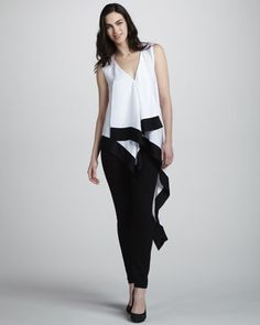 Draped Asymmetric-Hem Top by BCBGMAXAZRIA