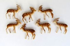 Vintage Miniature Deer Fawn Set