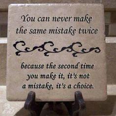 non puoi commettere lo stesso errore due volte