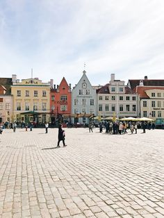 the main square of the uber charming Tallinn, Estonia | travel diary on coco kelley with @PrincessCruises #ad