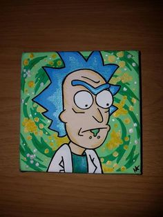rick and morty painting canvas easy Diy canvas art 815573813763141824 - Rick Sanchez Rick and Morty canvas Source by etsy_UK Small Canvas Paintings, Easy Canvas Art, Small Canvas Art, Mini Canvas Art, Diy Canvas, Painting Canvas, Easy Paintings, Hippie Painting, Trippy Painting