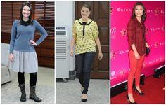 """Na tych zdjęciach z 2012 r. stylizacje jurorki """"Master Chefa"""" dodają jej co najmniej kilka lat i kilogramów."""