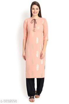 Kurtis & Kurtas Attractive Women's Kurti Fabric: Crepe Sleeve Length: Three-Quarter Sleeves Color : Cream Pattern: Printed Length : Up To 44 in Combo of: Single Sizes: XS - 34 in S - 36 in M - 38 in  L - 40 in  XL - 42 in XXL - 44 in Country of Origin: India Sizes Available: XS, S, M, L, XL, XXL   Catalog Rating: ★4.1 (450)  Catalog Name: Attractive Women's Kurti CatalogID_537957 C74-SC1001 Code: 573-3832098-429