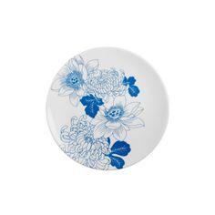 "Plate ""Tattoo Flowers"""