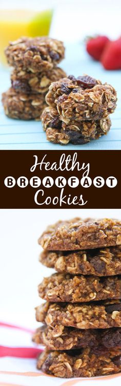 Healthy Breakfast Cookies - these are just as delicious as dessert cookies and way healthier. Kids LOVE them!