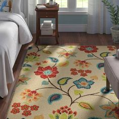Sol 72 Outdoor Lahaina Donohoe Multicolor Indoor/Outdoor Area Rug & Reviews | Wayfair Types Of Color Schemes, Types Of Rooms, Transitional Rugs, Hand Tufted Rugs, Indoor Outdoor Area Rugs, Material Design, Floral Motif, Throw Rugs, Beige Area Rugs