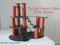 t.p. tube architecture... super fun! Spray paint tubes/cardboard first. Could go along with Magic Treehouse books.