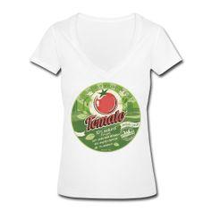 T-SHIRT col V plongeant femme europabio tomato ~ 1221