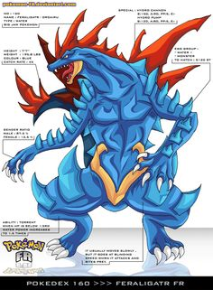 Pokedex 160 - Feraligatr FR by Pokemon-FR on @DeviantArt