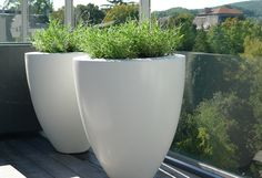 Large pots for the balcony.