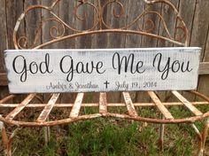 God Gave Me You Personalized Wedding Gift by CastleInnDesigns