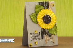 wonderful sunflower card