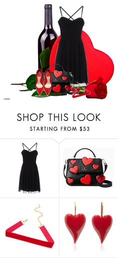 """""""Hearts"""" by ggmusicista on Polyvore featuring Silvian Heach and Kate Spade"""