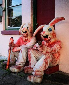 """""""Bunny taking over, Get on your knees and pray, Filthy fluffy creatures, Teeth as sharp as knives, The longeared ones are coming, Run run run for your lives, Killa bunny is a coming, Killa bunny on his way, Killa bunny is a coming, Are you hearing what I say."""" Moloko (Killa Bunny)"""