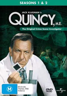 Quincey, M.E.: Series aired from October 1976 to September 1983. Jack Klugman starred as Dr. Quincy, a strong-willed Medical Examiner for the Los Angeles County Coroner's Office, working to solve possible suspicious deaths. In his investigations, Quincy comes into conflict with his boss, and the police, in particular, LAPD Homicide Lieutenant Frank Monahan. Each have their own ideas about what's going on and about Quincy's deductions. Quincy is assisted by his faithful lab assistant, Sam.