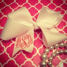 Monogrammed bow...