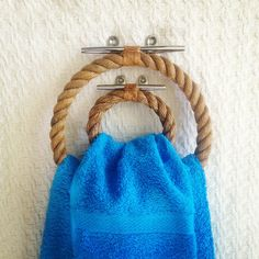 Yacht Edition #Nautical #Rope Towel Rings Set (Large And Small)