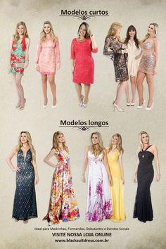 Lindos vestidos de festa, acesse www.blacksuitdress.com.br #blacksuitdress #fashion #moda #vestidodefesta #vestidos #curto #longo #lookfesta