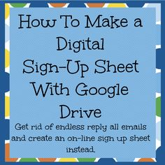 What a time saver! Tired of endless reply-all emails? Use this method for digital sign-up sheets. Classroom Volunteer, Student Volunteer, Classroom Signs, Volunteer Gifts, Online Sign Up Sheet, Online Signs, Online Volunteering, Sign Up Sheets, Parent Volunteers