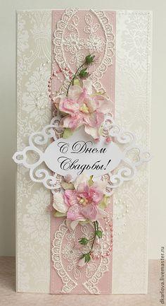 Свадебная открытка с кружевом - бледно-розовый,открытка на свадьбу,кружево Shaby Chic, Diy And Crafts, Scrapbooking, Frame, Cards, Inspiration, Decor, Decoration, Biblical Inspiration