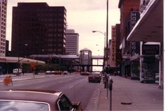 6th Street Market Place in background, crossing Broad Street (c) 1978