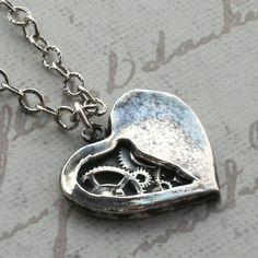 Clockwork Heart Necklace. #Familytree #GenealogyWebsite #BestGenealogySite #GenealogyTree #GenealogyBank #necklace