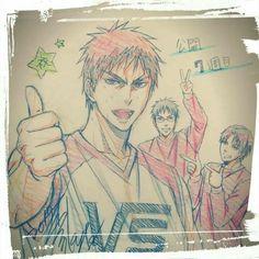 kuroko no basket official arts I Love Anime, All Anime, Anime Guys, Manga Anime, Anime Art, Vorpal Swords, Rilakkuma Wallpaper, Kagami Taiga, Kuroko Tetsuya