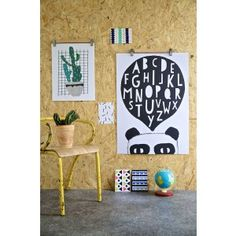 Alphabet Poster - Art for Kids and Cool Kids Room Decor Kids Prints, Wall Art Prints, Poster Prints, Deco Elephant, Cool Kids Rooms, Simple Poster, Childrens Wall Art, Art Prints Online, Black And White Posters