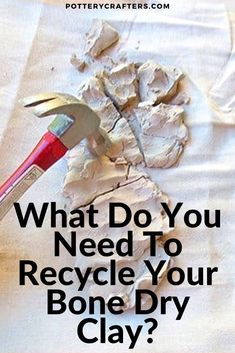 What Do You Need To Recycle Your Bone Dry Clay? Let's face it; recycling clay is not at the top of a potters list. Most potters I know dread having to slop Pottery Kiln, Ceramic Pottery, Clay Crafts For Kids, Pottery Videos, Sculpey Clay, Christmas Clay, Pottery Techniques, Art Techniques, Wheel Thrown Pottery