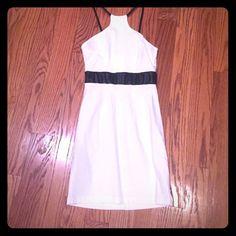 White Club Dress Super cute white dress with black straps and black waistline. Dresses