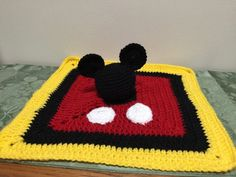 Shop for baby on Etsy, the place to express your creativity through the buying and selling of handmade and vintage goods. Mickey Mouse Blanket, Crochet Mickey Mouse, Minnie Mouse, Dyi Crafts, Yarn Crafts, Crochet Lovey, Knit Crochet, Security Blanket, Crochet Projects