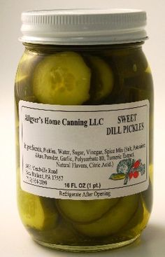 Authentic Amish Made - Allgyer\'s Sweet Dill Pickle