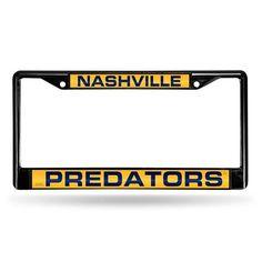 Nashville Predators Laser Cut Black License Plate Frame #NashvillePredators