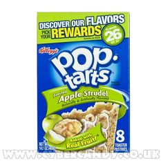 Kelloggs Pop Tarts Apple Strudel. Good, but I wish they would bring back the fully-frosted Dutch Apple.