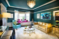 Little Brick House: 5 Tips to Get More Adventurous with Interior Paint Colors