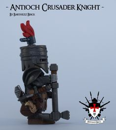 Antioch Crusader Knight So this is my eight custom LEGO minifig from a total series of 9. Although I decided to add another 2 archers and 2 templars, to give some more balance to the crusader army. Greetings Barthezz Brick