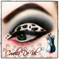 AMAZING Disney Inspired Makeup - Cruella De Vil