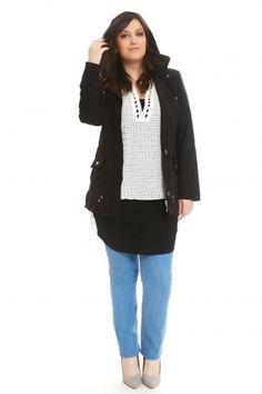 #love_this_style www.happysizes.gr #plussize #fashion #sexy #curvy #shopping #woman Fashion Night, Night Out, Curvy, Plus Size, Woman, Denim, Sexy, Sweaters, Jackets
