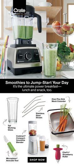 Flex those smoothie making skills with these simple and delicious recipes that work as a meal or snack. Our time-saving tools make prep and blending easy with minimal cleanup. Nutritious Smoothies, Easy Smoothie Recipes, Easy Smoothies, Smoothie Ingredients, Breakfast Smoothies, Fruit Smoothies, Smoothie Bar, Smoothie Blender, Avocado Tool