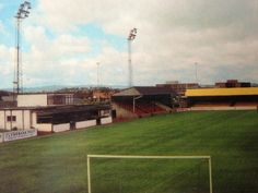 New Kilbowie Park, Clydebank in the Baseball Field, 1980s, Football, Park, Soccer, Futbol, American Football, Parks