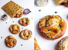 Petits Bretzels vegan aux oignons rouges et pistaches   Le blog de Lady Pastelle