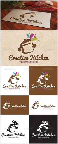 Creative Kitchen Logo — Vector EPS #catering #kitchen • Available here → https://graphicriver.net/item/creative-kitchen-logo/6791091?ref=pxcr