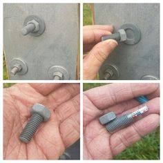 Sneaky fake bolt cache, nicely hidden among other bolts. Secret Hiding Places, Hiding Spots, Hidden Compartments, Secret Compartment, Secret Storage, Hidden Storage, Secret Space, The Secret, Geocaching Containers