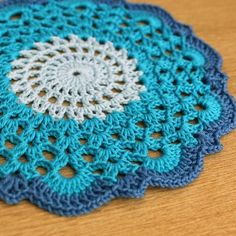 Blue Doily - from girlybunches (folksy) by victoria.allemond