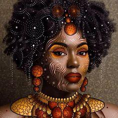 Another beautiful artwork by - ☀️ Golden ☀️ digital drawing on a photo of 🍁🍁🍁 Original photographer -… Art Black Love, Black Girl Art, Art Girl, African Girl, African American Art, Estilo Tribal, Afrique Art, African Artwork, Black Art Pictures