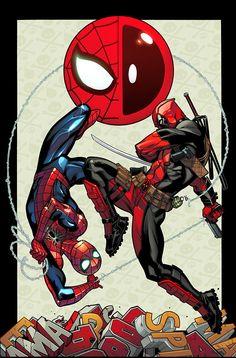 #Deadpool #Fan #Art. (Spider-Man/Deadpool #1 Cover) By: Ed McGuinness. (THE * 5 * STÅR * ÅWARD * OF: * AW YEAH, IT'S MAJOR ÅWESOMENESS!!!™)[THANK U 4 PINNING!!!<·><]<©>ÅÅÅ+(OB4E)