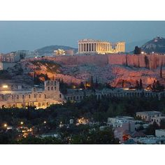 Greece - Athens - Acropolis by night - ATHENS - PHOTO ❤ liked on Polyvore