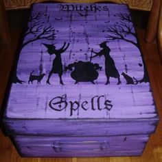 Witchcraft Witches spells spell box magic Halloween decorations wiccan | SleepyHollowPrims - Folk Art & Primitives $45